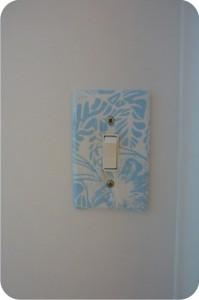 interruptor com colagem de tecido