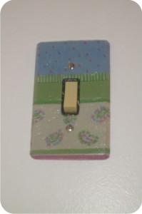 interruptor com colagem de guardanapo