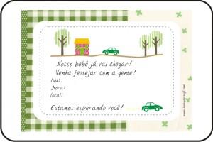 convite - casa, árvore, carro