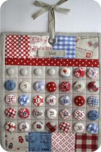 calendário permanente - tecido - botões