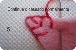 como fazer ponto caseado - diy blanket stitch