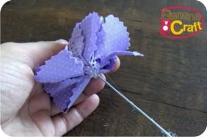 fabric flower - tutorial - diy