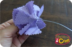 fabric flower - diy - tutorial
