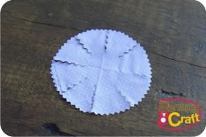 pap flor de tecido
