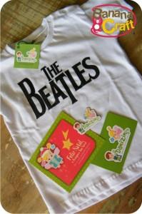 camiseta beatles para bebê