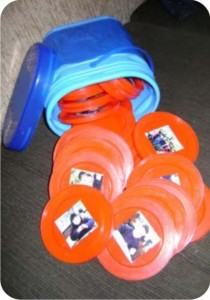 jogo da memória com tampas de Nescau