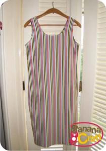 dress - stripes