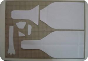 molde de puxa-saco - costura