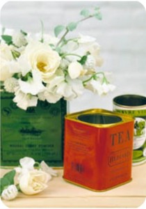 tea-tin vase