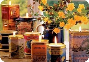 tea-tin candle