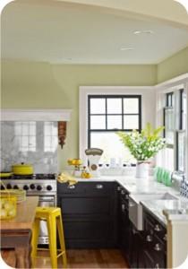 kitchen - yellow - black