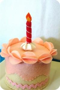 bolo de aniversário de feltro