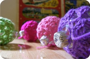 bolas de natal de croche