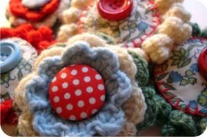 crochet button