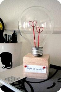 lampada com corações