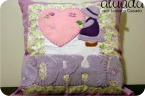 almofada patchwork