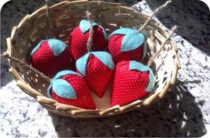 morangos de tecido