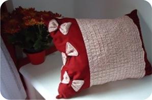 almofada de tecido