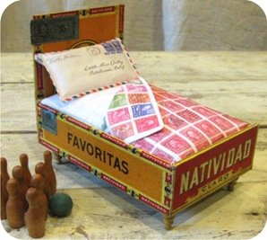 cama de boneca feita em casa
