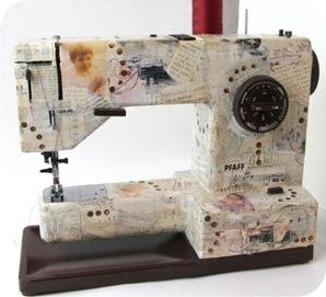 maquina de costura enfeitada
