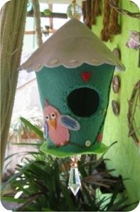 casinha de passarinho de feltro