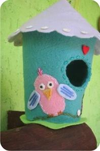 felt bird house