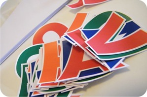 bandeirolas de papel