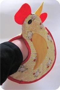 galinha de tecido