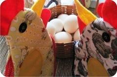 galinhas de tecido