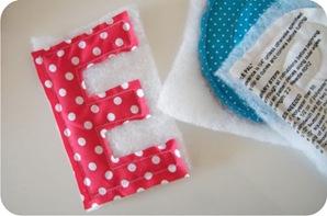 letras de tecido