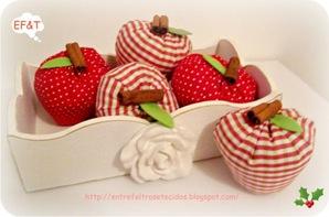 maçãs de tecido