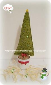 pinheiro de natal de tecido