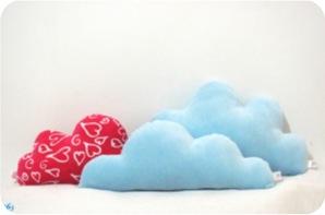 almofadas nuvens