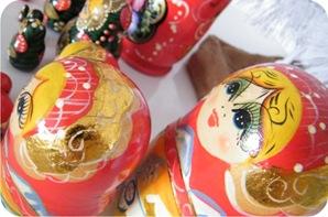 bonecas russas de natal