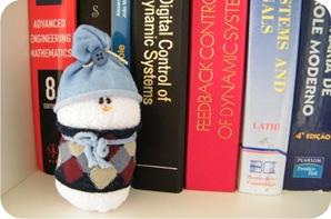 boneco de neve de meia