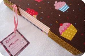 caderno com capa forrada