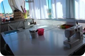 atelier de costura no sótão
