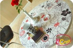 mesa madeira pintada a mao