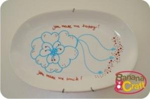 prato pintado a mao