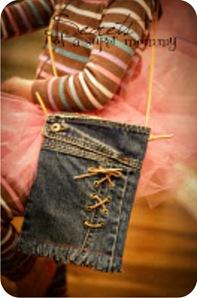 bolsa feita com calça jeans velha
