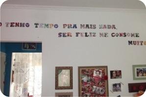frase na parede