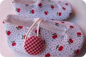 sapatinhos de bebe de tecido