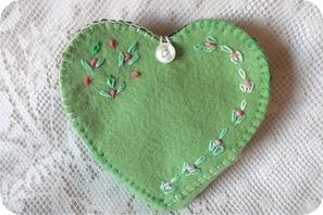 felt embroidery heart