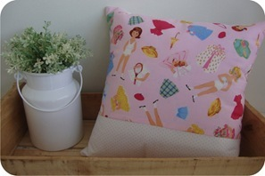 paper dolls pillow