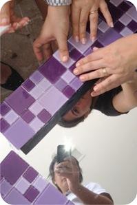 tutorial de moldura com pastilhas de vidro