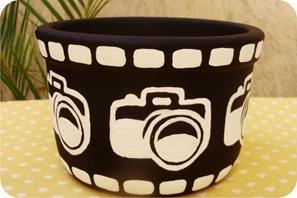 vaso maquina fotografica