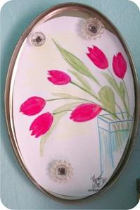 quadro com tulipas