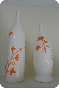 garrafas de ceramica pintadas
