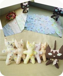 gatinhos de pano