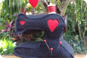 maquina de costura de feltro